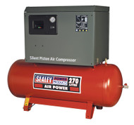 Sealey SAC72775BLN Compressor 270ltr Belt Drive 7.5hp 3ph 2-Stage with Cast Cylinders Low Noise