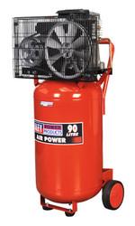 Sealey SAC1903B Compressor 90ltr Vertical Belt Drive 3hp