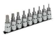 """Sealey AK6222 TRX-P Socket Bit Set 9pc 3/8""""Sq Drive 50mm"""