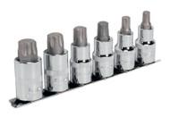 """Sealey AK6224 TRX-P Socket Bit Set 6pc 1/2""""Sq Drive 55mm"""