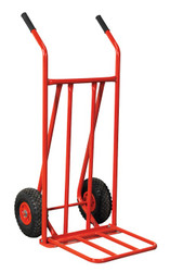Sealey CST800 Sack Truck with Pneumatic Tyres 150kg Foldable Toe