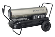 Sealey AB1758SS Space Warmerå¬ Paraffin/Kerosene/Diesel Heater 175,000Btu/hr with Wheels Stainless Steel