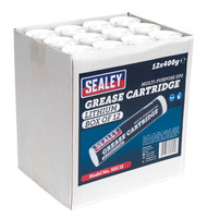Sealey SGC12 Grease Cartridge EP2 Lithium 400g Pack of 12