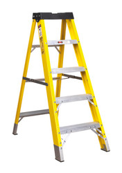 Sealey FSL5 Fibreglass Step Ladder 4-Tread EN 131