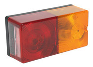 Sealey TB192 Rear Rectangular Lamp Cluster 4-Function 12V with Bulbs