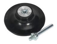 """Sealey PTCQCBP75 Quick Change Backing Pad åø75mm 1/4""""UNC"""
