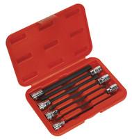 """Sealey AK62255 Hex Socket Bit Set 7pc 3/8""""Sq Drive 150mm Metric"""