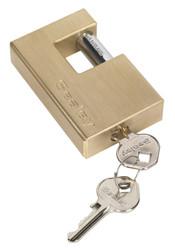 Sealey PL209 Brass Shutter Padlock 76mm
