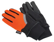 Sealey MG797L Mechanic's Gloves High Visibility PU Touch Thinsulateå¬ - Large