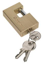 Sealey PL108 Brass Body Shutter Padlock 60mm