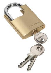 Sealey PL105 Brass Body Padlock Shrouded Shackle 50mm