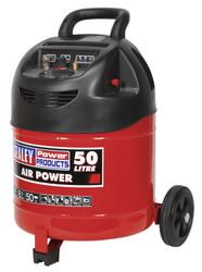 Sealey SAC03250 Compressor 50ltr Belt Drive 1.5hp Oil Free