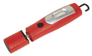 Sealey LED3602R Rechargeable 360åÁ Inspection Lamp 7 SMD + 3W LED Red Lithium-ion