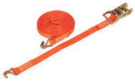 Sealey TD1508J Ratchet Tie Down 25mm x 8mtr Polyester Webbing 1500kg Load Test