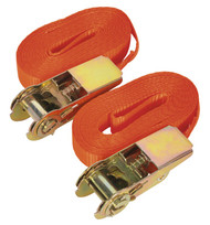 Sealey TD08045E Self-Securing Ratchet Tie Down 25mm x 4.5mtr 800kg Load Test - Pair