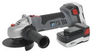 Sealey CP5418V Cordless Lithium-ion Angle Grinder åø115mm 18V 1hr Charge - 2 Batteries
