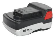Sealey CP5418VBP Cordless Power Tool Battery 18V 1.5Ah Li-ion for CP5418V & CPMT18V