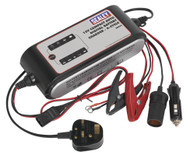 Sealey SMC04 Compact Auto Digital Battery Charger - 9-Cycle 12V
