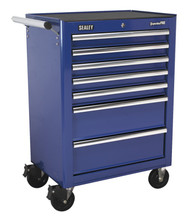 Sealey AP26479TC Rollcab 7 Drawer with Ball Bearing Runners - Blue