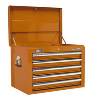Sealey AP26059TO Topchest 5 Drawer with Ball Bearing Runners - Orange