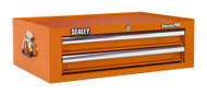 Sealey AP26029TO Mid-Box 2 Drawer with Ball Bearing Runners - Orange