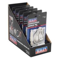 Sealey WK01DB Windscreen Repair Kit Display Box of 5
