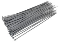 Sealey CT30048P100S Cable Tie 300 x 4.8mm Silver Pack of 100