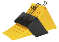 Sealey CV127 Wheel Chock with Bracket Single - Commercial
