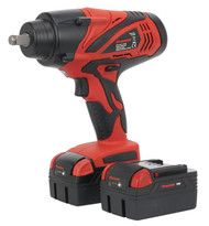 "Sealey CP3005 Cordless Lithium-ion Impact Wrench 18V 4Ah 1/2""Sq Drive 650Nm - 2 Batteries"