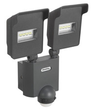 Sealey LED046S Floodlight with 2 x Swivel Head, Wall Bracket & PIR Sensor 20W LED 230V