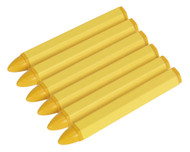 Sealey TST14 Tyre Marking Crayon - Yellow Pack of 6