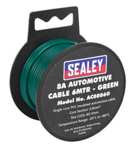 Sealey AC0806G Automotive Cable Thick Wall 8A 6mtr Green