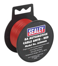 Sealey AC0806R Automotive Cable Thick Wall 8A 6mtr Red