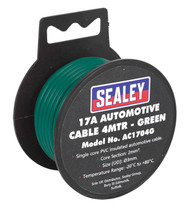 Sealey AC1704G Automotive Cable Thick Wall 17A 4mtr Green