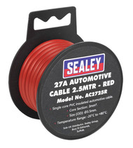Sealey AC2725R Automotive Cable Thick Wall 27A 2.5mtr Red