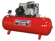 Sealey SAC65010B Compressor 500ltr Belt Drive 10hp 3ph 2-Stage with Cast Cylinders