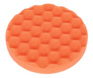Sealey PTCCHW150O Buffing & Polishing Foam Head Hook & Loop åø150 x 25mm Orange/Firm