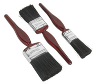 Sealey SPBS3 Pure Bristle Paint Brush Set 3pc