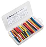 Sealey HST501MC Heat Shrink Tubing Assortment 180pc 50 & 100mm Mixed Colours