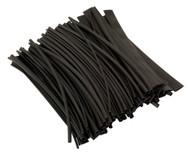 Sealey HST200B Heat Shrink Tubing Black 200mm 100pc