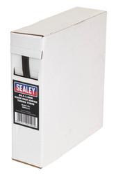 Sealey HST6412 Heat Shrink Tubing Black åø6.4-3.2mm 12mtr