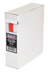 Sealey HST12708R Heat Shrink Tubing Red åø12.7-6.4mm 8mtr
