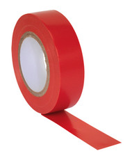 Sealey ITRED10 PVC Insulating Tape 19mm x 20mtr Red Pack of 10