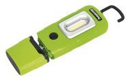 Sealey LED3601G Rechargeable 360åÁ Inspection Lamp 2W COB + 1W LED Green Lithium-Polymer