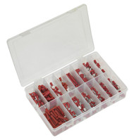 Sealey AB039RT Crimp Terminal Assortment 260pc Red