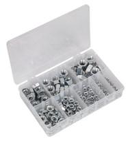 Sealey AB046SN Steel Nut Assortment 255pc M4-M16 DIN 934 Metric