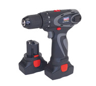 Sealey CP6004 Cordless Drill/Driver 14.4V 2Ah Lithium-ion 10mm 2-Speed Motor - 2 Batteries 40min Charger