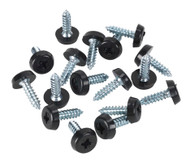 Sealey PTNP3 Number Plate Screw Plastic Enclosed Head åø4.8 x 18mm Black Pack of 50
