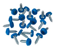 Sealey PTNP4 Number Plate Screw Plastic Enclosed Head åø4.8 x 18mm Blue Pack of 50