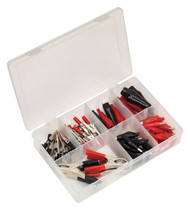 Sealey AB023CA Crocodile Clip Assortment 60pc Red & Black